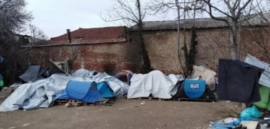 Makeshift Camp Near the Old Railway Station - Thessaloniki