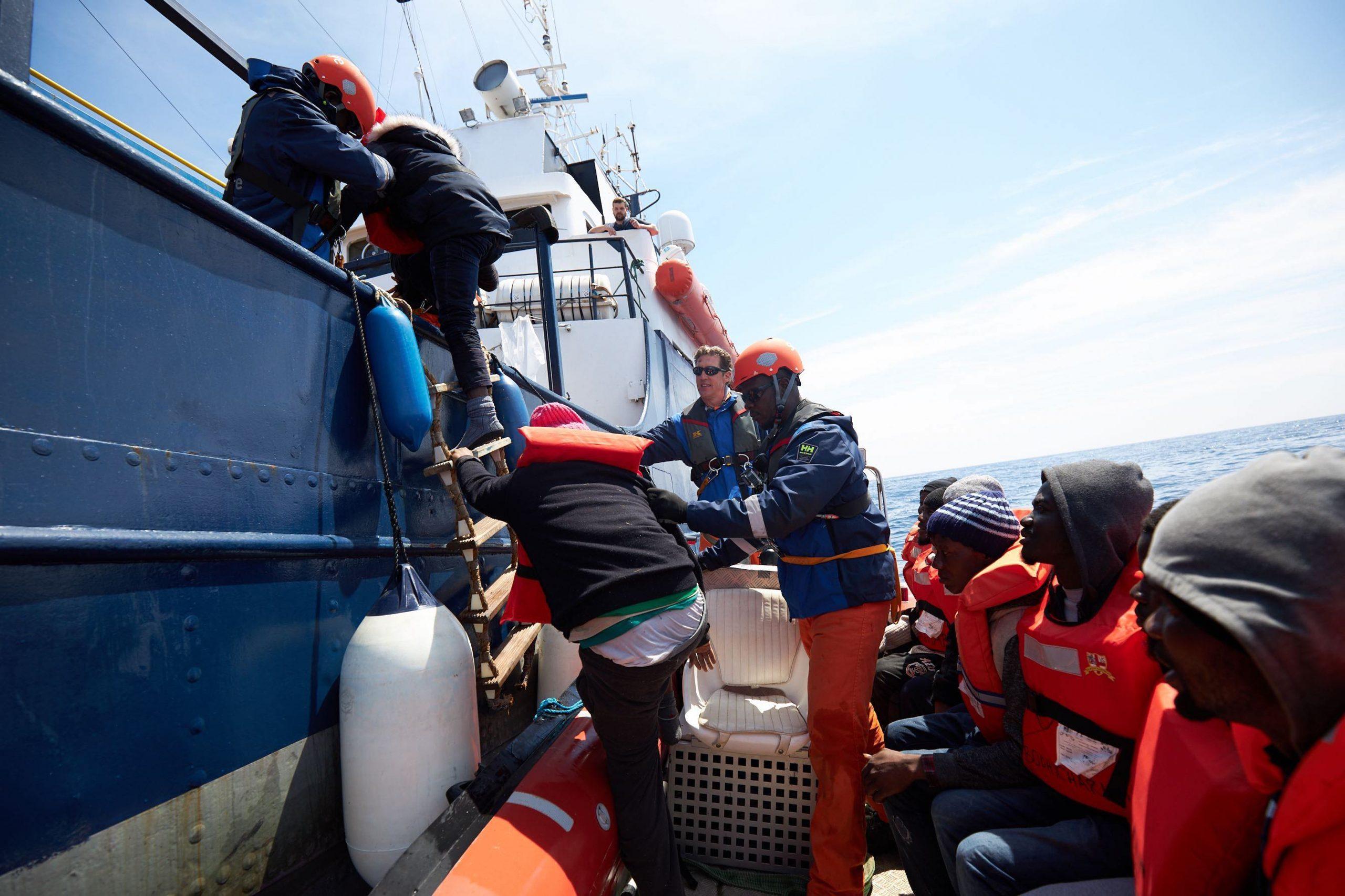 Alan Kurdi conducting rescue