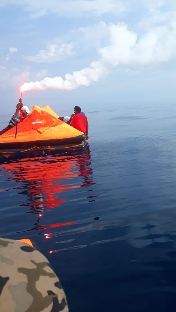 Greek Coast Guard Pushback People on Life Rafts